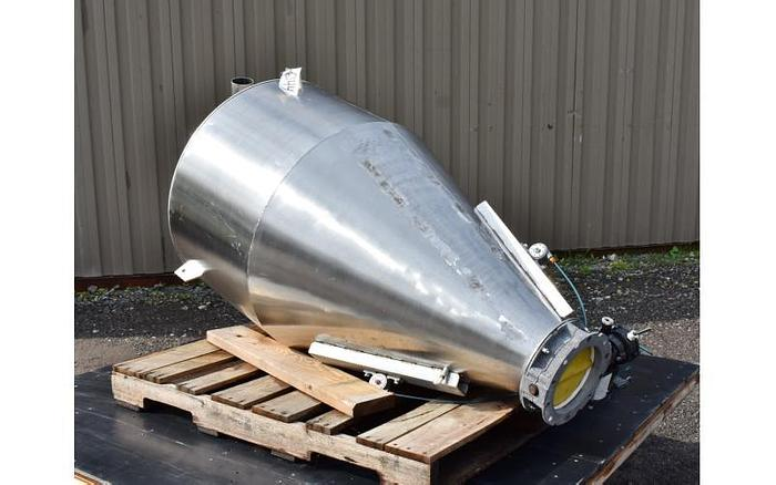 USED 110 GALLON TANK (HOPPER/CYCLONE), STAINLESS STEEL