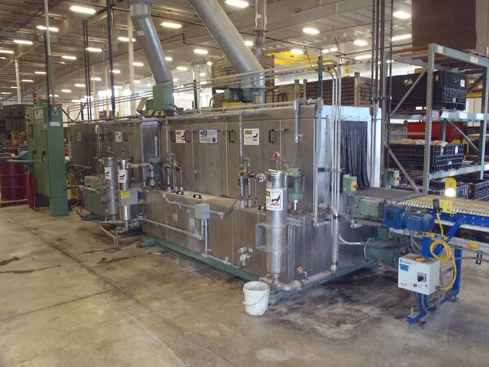 2004 Mid Brook Hurricane Conveyor style wash system all stainless steel.