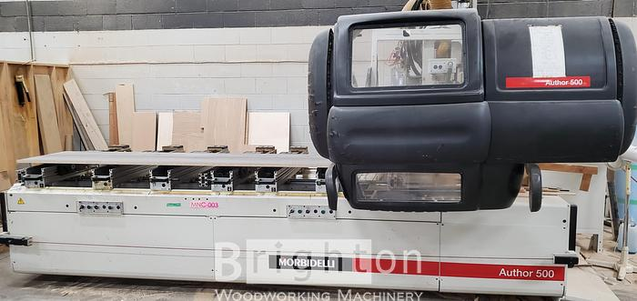 Used 2001 Morbidelli Author 500 S used Pod and Rail cnc machine