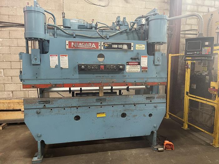 Used 100 TON X 8', NIAGARA, CNC HYDRAULIC PRESS BRAKE