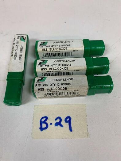 Part 018045#45 Precision Dormer(Lot Of 36)&(Lot Of 12)018040#40 R18 48 Total Pcs