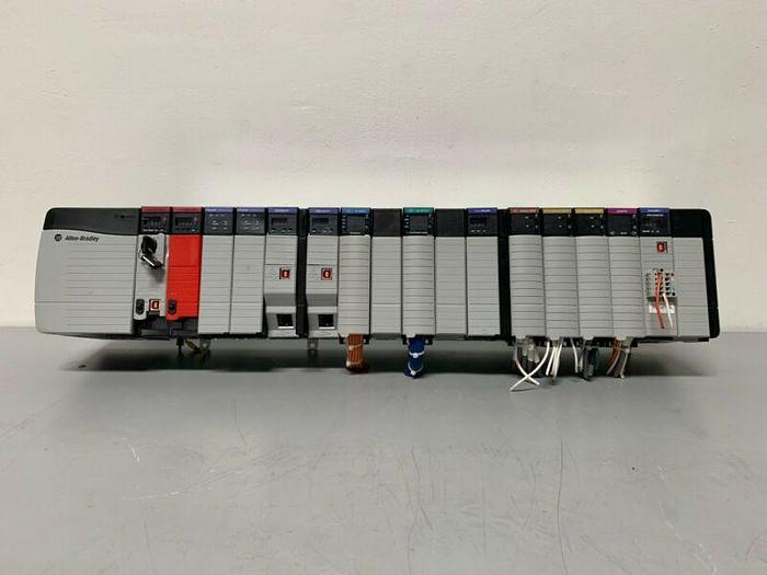Used Allen-Bradley 5573S 1756-L73S w/ 1756-A17 17 Slot Chassis & EtherNet/IP (x3)