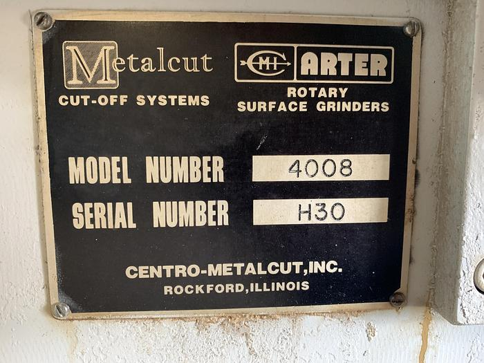 ARTER MODEL H30 HORIZONTAL HORIZONTAL SPINDLE RECIPROCATING ROTAY SURFACE GRINDER 1984 MINT!