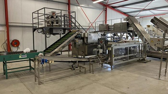 Used Newtec Htech weighing and bagging line