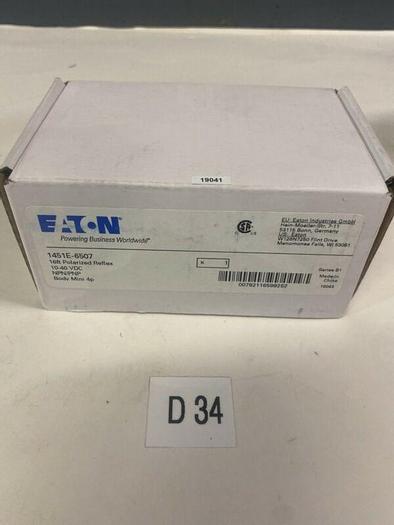 New Eaton / Cutler-Hammer 1451E-6507 Polarized Reflex Sensor 10-40v Warranty