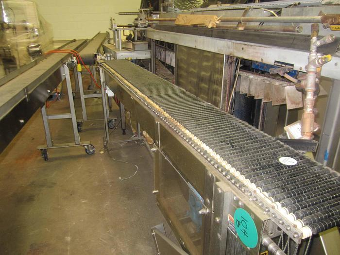 "SHUTTLEWORTH STAINLESS STEEL CONVEYOR 105""L"
