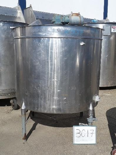 600 Gallon Vertical Stainless steel Tank #3017