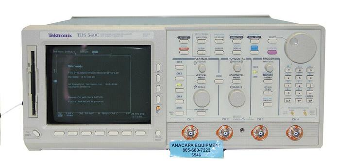 Used Tektronix TDS 540C 4 Channel Digitizing Oscilloscope Options 13 1F HD 2M (6546)