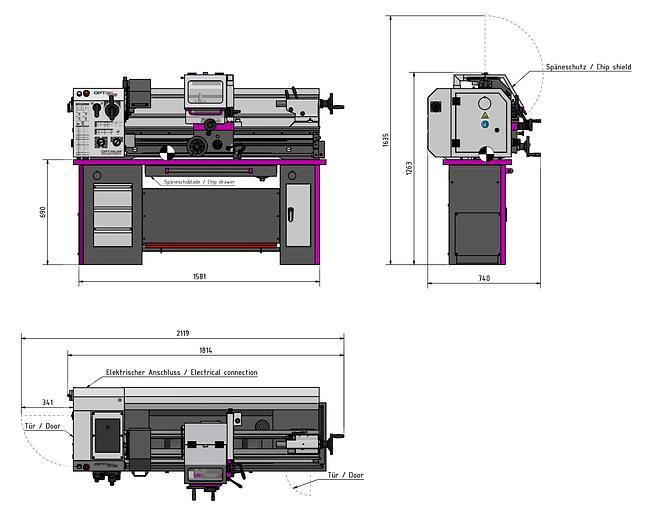 2020 Optimum OPTIturn TM3310  L+Z Drehmaschine