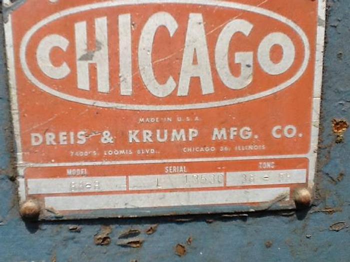 Chicago Dreis & Krump Press Brake