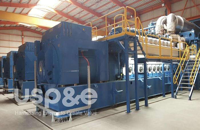 Used 43MW 2010 Low Hour Wartsila 20V34SG Natural Gas Combined Cycle Plant