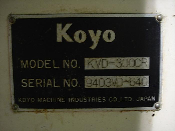 KOYO KVD300CR VERTICAL DOUBLE DISC GRINDER