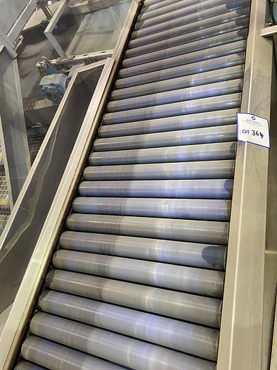 Used Stainless Steel inspection roller table 2m L 0.7m