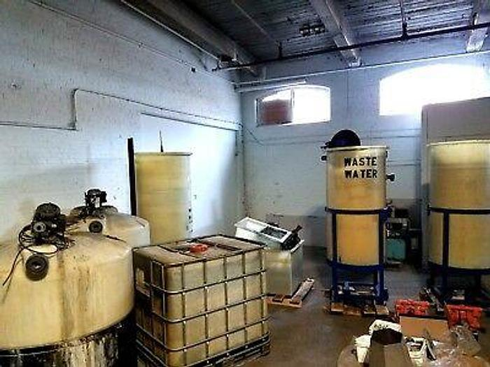 Used Waste Treatment System Metal Solids cleans water Reuse Clear Water Green Process