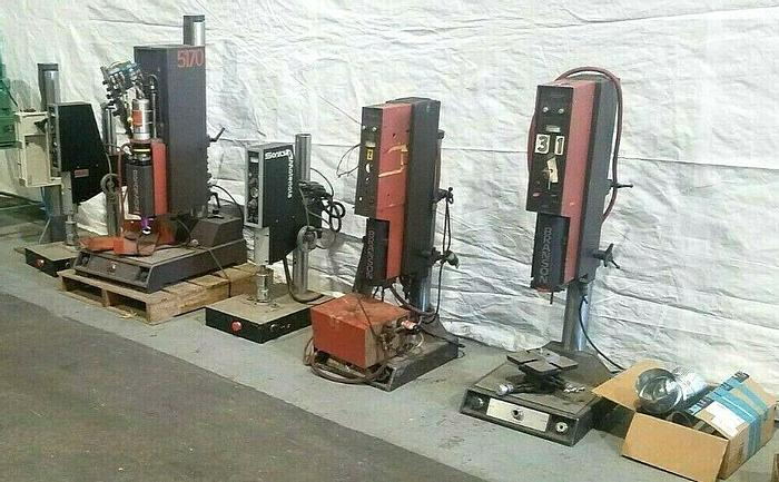 Used ALL 5 Ultrasonic Plastic welders Branson and others For Parts Only ONE PRICE
