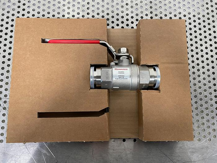 Edwards IBV25MKS Stainless Steel Vacuum Ball Valve w/ KF25 Fitting C36000200