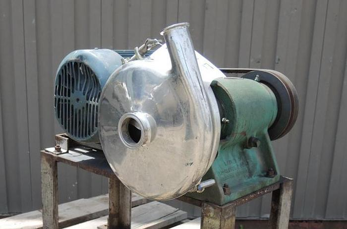 "Used USED CENTRIFUGAL PUMP, 2"" X 1.5"" INLET & OUTLET, STAINLESS STEEL, SANITARY"