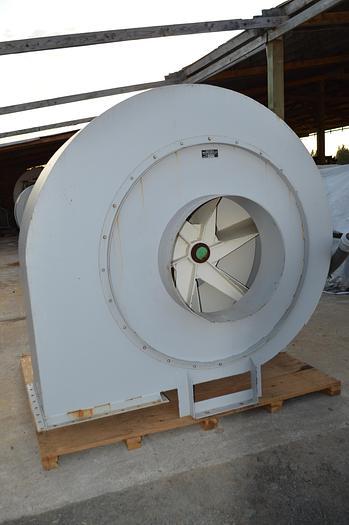 Used 75 HP Argo blower fan, 7CWDB, 75 HP fan down blast outlet