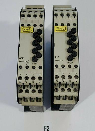 Used *PREOWNED* LOT OF 2 SIEMENS Simatic S5-110 6ES5 410-7AA11 Relay Modules Warranty