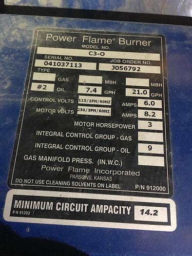 2010 Hurst Boiler 70 HP Oil 150 PSI Steam Boiler  4VT-P2-70-150