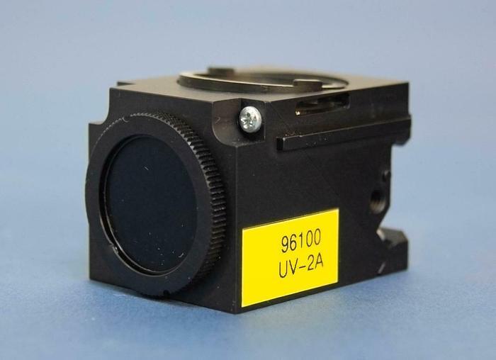 Used Nikon 96100 UV-2A Fluorescent Microscope Filter Cube Eclipse E400/600/800 (5717)