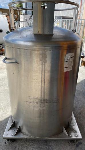 Used DEWAR STORAGE ON WHEELS TANK  International cryogenics Helium