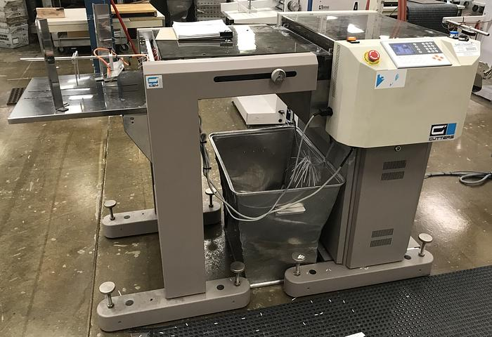 Used 2013 / 2012 - CEM MP601PA Cutter with Sinking Stacker (Serial No. 35850 / 35834)