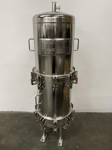 Used CUNO 16ZPB Stainless Steel Cartridge Filter Housing 150 PSI @ 300 °F