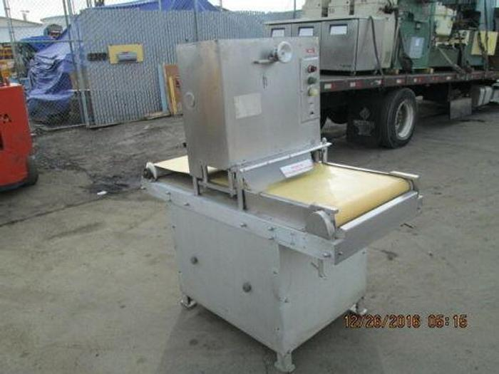 Used JACCARD MDL. HORD II COMMERCIAL MEAT FLATTENING MACHINE / MEAT PRESS W/CONVEYOR
