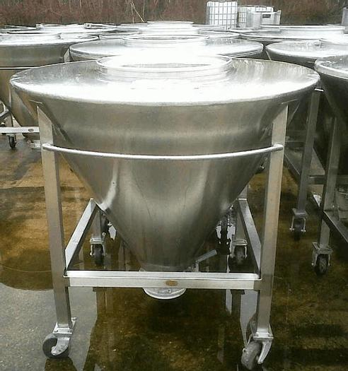 Used 125 GALLON CONICAL TOTE TANKS – SANITARY S/S (4)