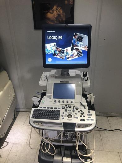 Gebraucht GE LOGIQ E9 Ultraschalsystem mit Drucker und 4 Sonden