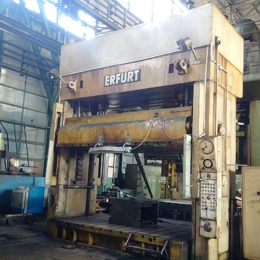 1979 Erfurt Hydraulic Die Spotting Press Model PYXTuS 100.1/400 100ton