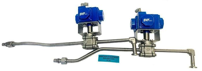 Used SVF Compact HS15-2 H15 SR-1B2Z 1/90 Pneumatic Valve Actuator Lot of 2 (8736)W