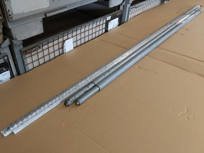 Gebraucht 2 Stück Rundsperrbalken + Airlineschienen S, 2000-2400mm, 500kg, St/Alu, Dekra,  gebraucht