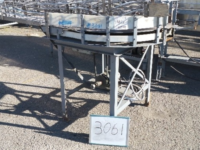 Whallon Rotary Dump Table with turntable for glassline #3061