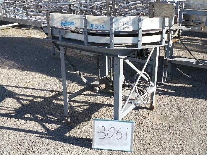 Whallon Rotary Dump Table with turntable for glassline