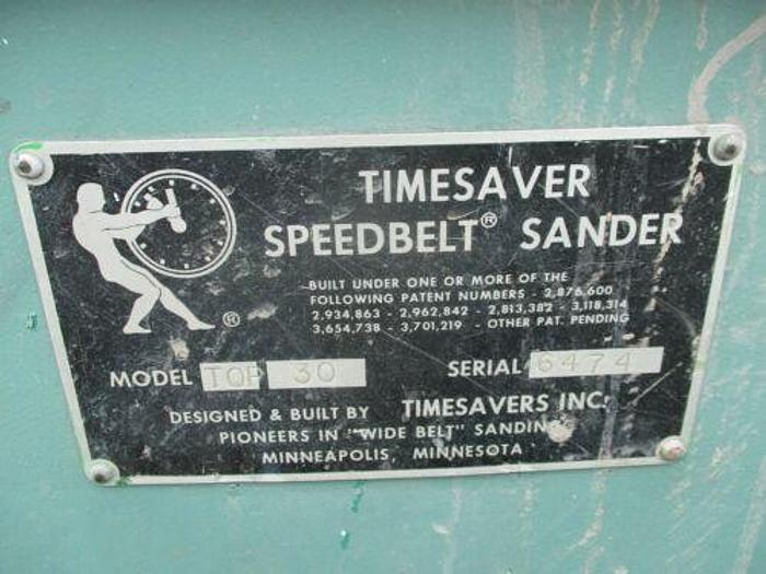 TIMESAVER TOP 30 SPEEDBELT WIDEBELT SANDER BY TIMESAVERS INC.