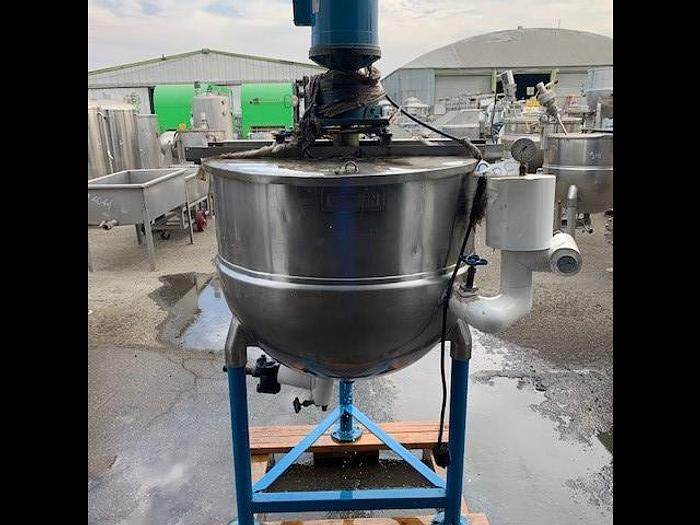 Used Groen 100 Gallon Stainless Steel Jacketed Steam Mix Kettle NF 100