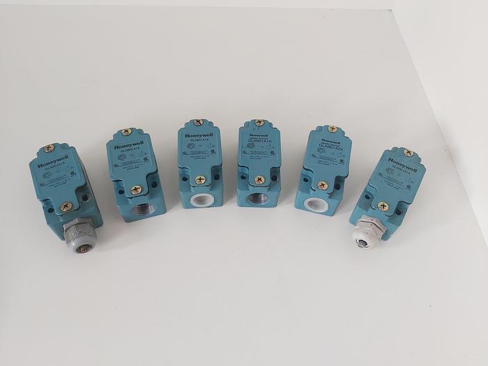 Gebraucht 6 Stück Endschalter, GLAB01A1A, Honeywell,  gebraucht