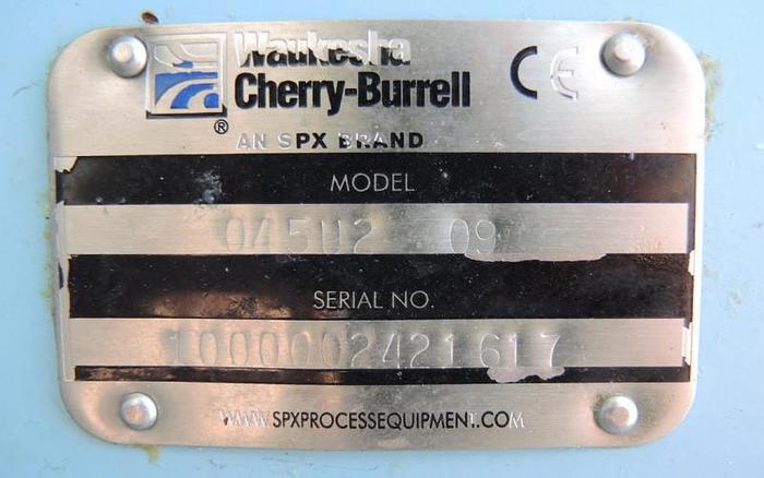 USED WAUKESHA ROTARY LOBE PUMP, MODEL 045-U2, STAINLESS STEEL, SANITARY