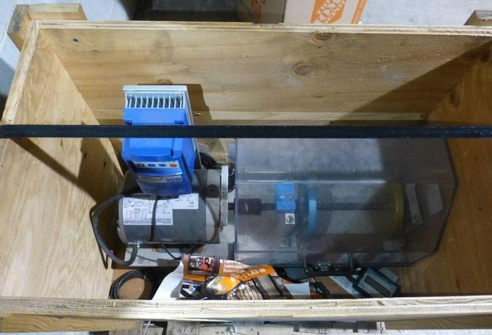 Used CUSTOM TABLETOP REWINDER WITH MARATHON MOTOR AND LENZE AC TECH DRIVE