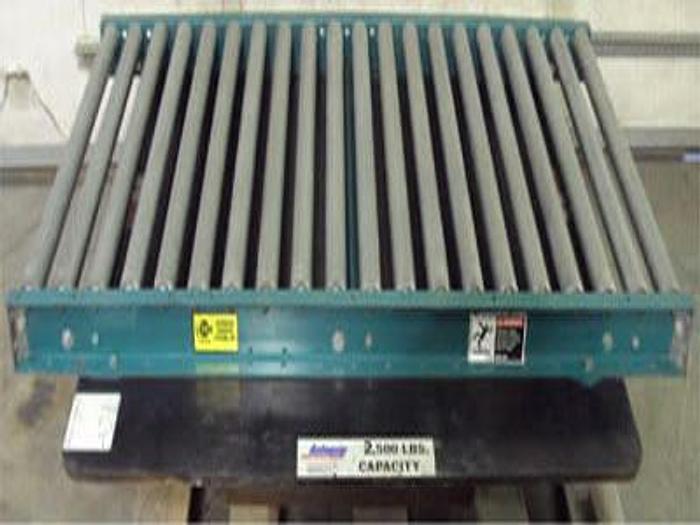 Used Autoquip Manual Turntable w/ ACS Conveyor