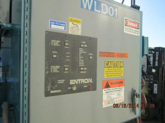 TAYLOR WINFIELD 200 KVA SEAM WELDER W/ LATE ENTRON EM 1000 CONTROLS