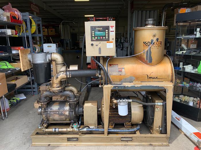 Used 2011 Dekker 40hp V-Max Liquid Ring Vacuum Pump