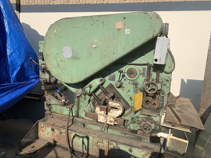 "6"" x 4"" x 1/2"", MUBEA, 71 TON, 6"" X 3/4"" SHEAR, 7/8"" THRU 7/8"" PUNCH   Our stock number: 5554"