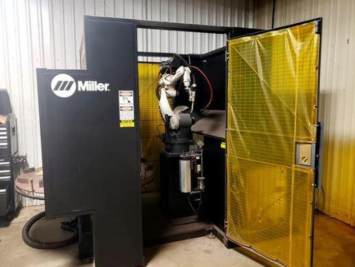 2013 MILLER PERFORMARC PA250M ROBOTIC WELDING CELL, PANASONIC TA-1000 6-AXIS ...