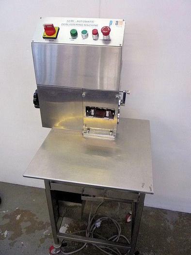 Used I 12369 E - Deblistering Machine PAM DBM - Semi-Auto