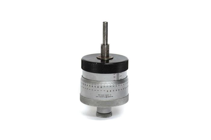 Used Scherr Tumico Inc Large Metric Micrometer Head 0-25mm/0.002mm (5262)
