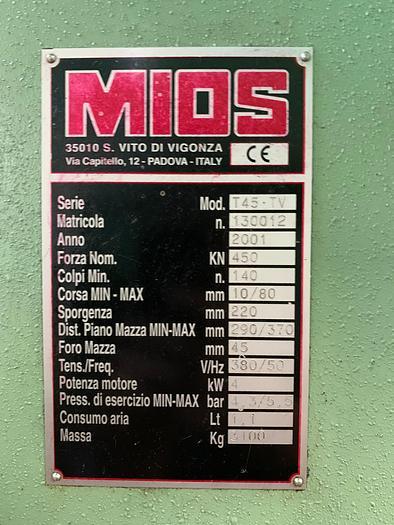 Pressa a collo di cigno meccanica MIOS T45-TV