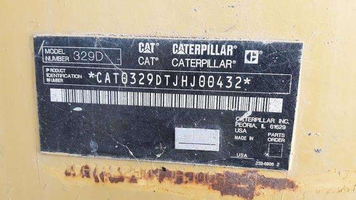 2011 CATERPILLAR 329D